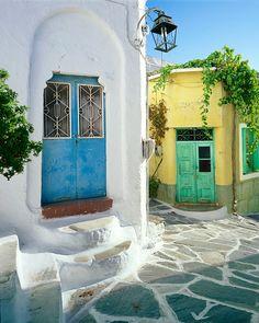 greec, the doors, green doors, dream places, blue doors