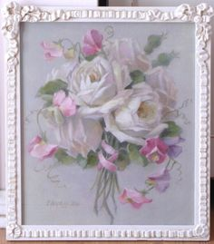 """""""Sweet Sentiments"""" in antique frame C.Repasy"""
