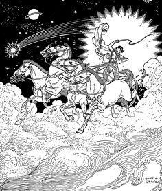 "Art by Donn P. Crane, ""The Story Of Phaeton."""