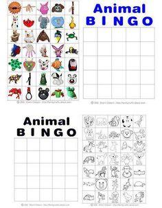 Printable Animal Bingo Cards