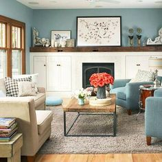 These casual family rooms illustrate many style options—all designed for relaxing. Browse through our photos to find ideas for decorating your family space!