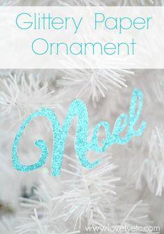 glittery paper ornam