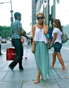 teal skirt #Guesscolor