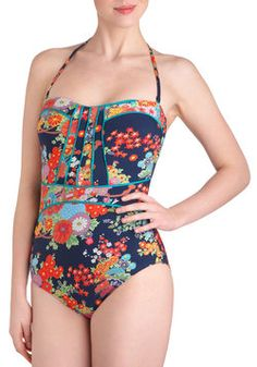 Lune and Lagoon One Piece in Midnight, #ModCloth