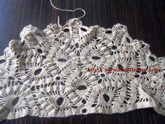 Tiğ İşi Şal Modeli crocheted shawl yapılışı burada:http://www.marifetane.com/..