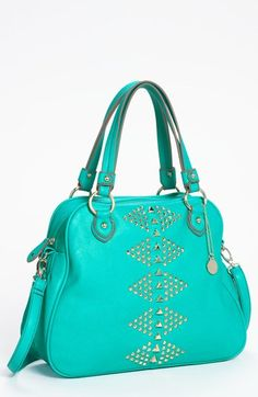 Turquoise & studded perfection in this satchel.