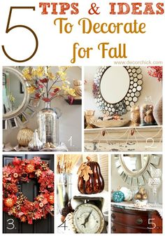 5 Tips and Ideas To Decorate for Fall - Decorchick.com