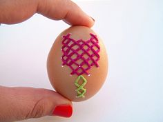 cross stitch easter egg.