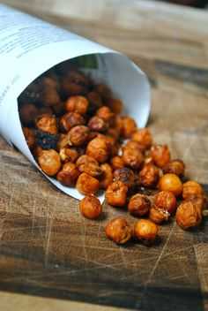 Spicy baked chickpeas...