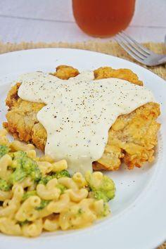 dinner, steak recipes, fri steak, food, steaks, meat, kitchen, white gravi, chicken fried steak