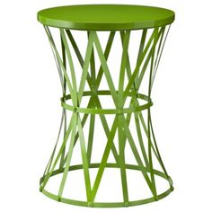 Accent Table - Green Metal