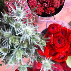 making holiday bouquets