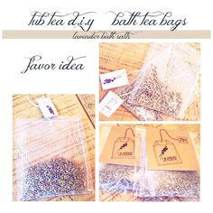 d.i.y lavender tub teas plus silhouette sketch pen packaging