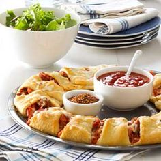Pizza Ring Recipe from Taste of Home -- shared by Sarah Richardson of Springdale, Arkansas