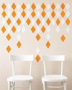 #DIY Diamond backdrop template from Martha Stewart