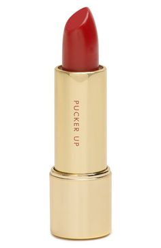 for the perfect red lip try: 'supercalifragilipstick' by kate spade
