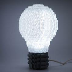 lights, lamps, lightbulb lamp, lego lightbulb, lego art, lego lamp, legos, bulbs, light bulb