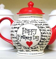 Pottery Cafe - mug decorating  for Mother's Day #teapot #paintyourown