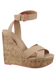 Ashley Tipped Wedge Cork Heel available at #Maurices