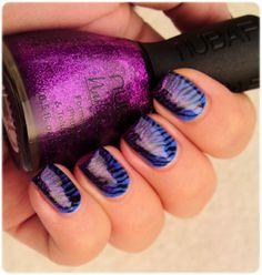 Blue & Purple Zebra  - so pretty!