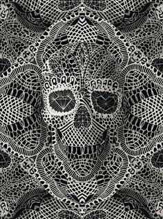 Lace Skull Art Print | Designer: Ali GULEC