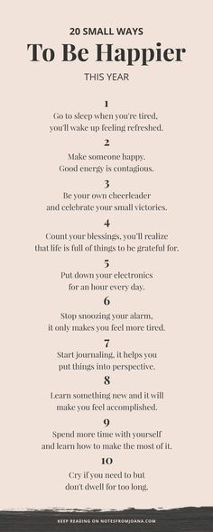 20 Small Ways To Be