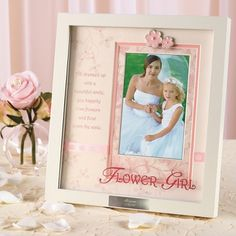 Flower Girl Shadowbox Picture Frame: This is such a cute idea!