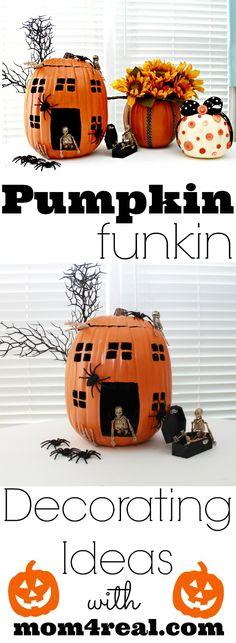 Pumpkin Decorating Ideas by @Jess Liu Kielman         {Mom 4 Real} #MPumpkins