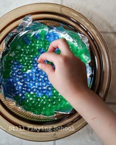 Still Playing School: Melted Bead Transparent Earth Craft