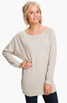 Rubbish® Wide Neck Sweatshirt (Juniors) available at #Nordstrom