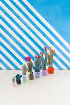 clays, potted plants, felt, cacti, crochet