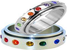 Rainbow Spinner Ring