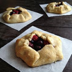 Rustic mini pies with the perfect flaky crust and warm berry center.