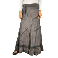 Long skirt made of soft micro suede fabric.