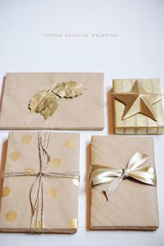 Simple metallic wrapping