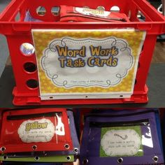 Free Daily 5 Word Work Task Cards Easy as print and go!