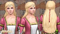 renaissance hairstyles for women   My Sims 3 Blog: The Sims Medieval Aristocrat Long Braid Hair ...