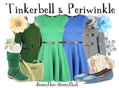 Adult inspired Tinkerbell and periwinkle Disney outfits