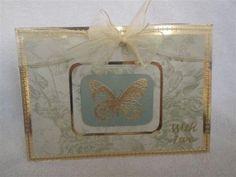 card idea, 50th anniversary, anniversari card, scrapbook card, butterfli card