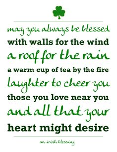 Free St. Patrick's Day Printable - An Irish Blessing #stpatricks