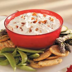 Bacon Cheddar Dip    Give this recipe a try if you're looking for a deliciously different dip to serve with crackers, potato chips or vegetables.
