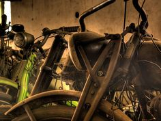 Abandoned Motorcycle in HDR
