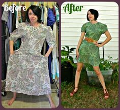 "Does the ""After"" of this dress leave you green with envy?  :)"