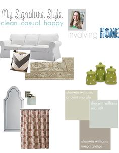 My Signature Style - clean, casual, and happy.