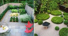 formal xeriscape courtyards