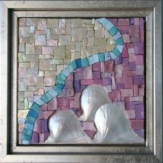 The Sea - An original mixed media work of art. $115.00, via Etsy.