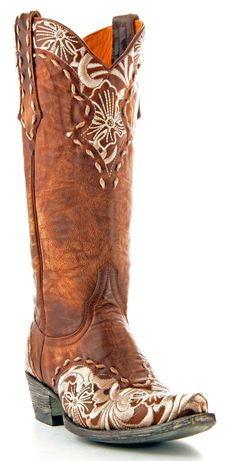 Womens Old Gringo Erin Boots Bone, Brass -They look like they have lace on them