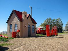 Phillips 66 station. Route 66. McLean, Texas