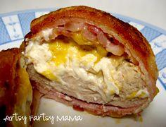 Bacon Wrapped Chicken at artsyfartsymama.com