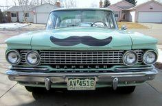 A 1961 Rambler Classic sporting a moustache!!!!!!!!!